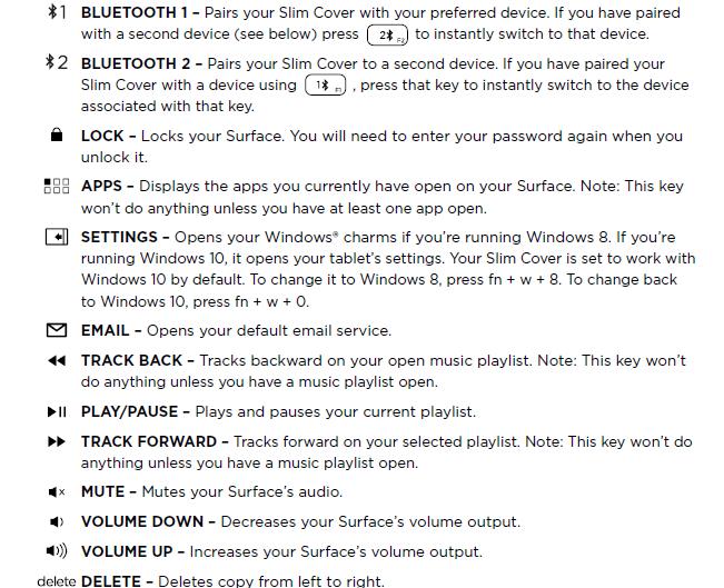 windows 10 function keys